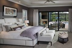 A suite with a view! You will think you are on vacation with a Master Suite like this.