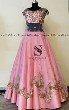 Stunning blush pink color lehenga and blouse with layered net. Netwith floral design hand embroidery gold thread and zardosi work. Choli Designs, Lehenga Designs, Indian Designer Outfits, Designer Dresses, Designer Lehanga, Designer Bridal Lehenga, Indian Wedding Outfits, Indian Outfits, Indian Gowns Dresses
