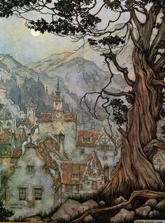 Anton Pieck - This is the sort of illustration I want to climb inside and live i. - Homebrewed - - Anton Pieck - This is the sort of illustration I want to climb inside and live i. Art And Illustration, Anton Pieck, Fairytale Art, Dutch Painters, Dutch Artists, Art Inspo, Painting & Drawing, Illustrators, Fantasy Art