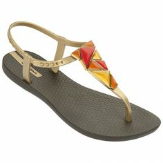 Mosaic (Brown/Gold) Ipanema Flip Flops, Rimmel, Fashion Shoes, Slippers, Footwear, Wedges, Lady, Brown, Gold