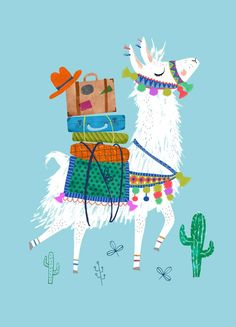 Postcard Lama by Rebecca Jones Más