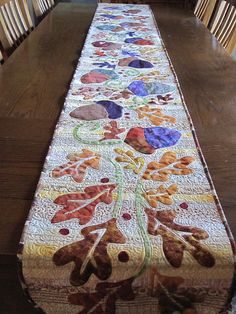 Autumn Art to Heart Tablerunner - a little busy, but I kind of like it.