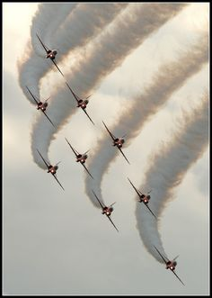 Perfect formation.... Red Arrows -: