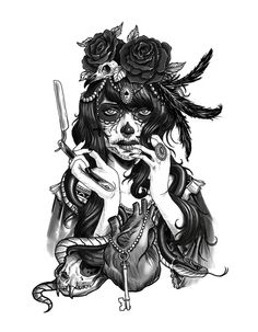 Chicano Art Print <3 I want!!!!!!!!!!!!!!!!!!!!!!!!!!!!!!!!!!!!! (In color would be kewl too)