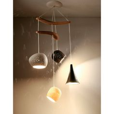 Ceiling lighting: Clay-light Boomerang - Four Pendant Chandelier - On Sale 20% Off op Etsy, 435,93€