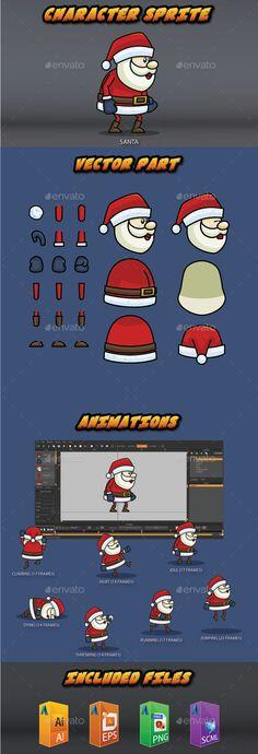 Santa Character Sprite (Sprites)