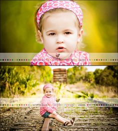 railroad track toddler photography. Maybe on the tracks where Corey had some of our wedding pics taken.