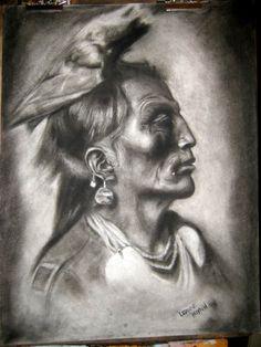 charcoal portraits | Leanne Huynh: Native American Charcoal Portrait