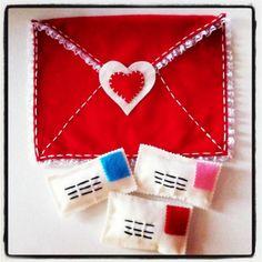 Valentine's Felt Envelope Backpack  or Chair by buttercreamforest, $20.00