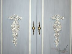 These large wood appliques are beautiful with this paint job from Uniquely Grace.