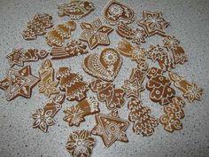 Medovníčky (Slovak honey and anise cookies) traditionally made for christmas
