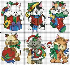 Point de croix Noël *m@* Christmas Cross stitch