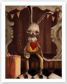 Afterland - A collectible card game on iTunes and Google Play #Afterland Dark Art Illustrations, Illustration Art, Evil Art, Darkness Falls, Rabbit Art, Lowbrow Art, Creepy Cute, Pop Surrealism, Cute Creatures