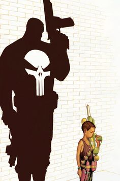 Every little boy has a bit of Punisher in 'em. By Skottie Young Punisher Marvel, Punisher Max, Marvel Comics, Marvel Art, Comic Book Characters, Marvel Characters, Comic Character, Comic Books Art, Comic Art