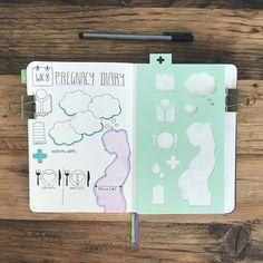 Pregnancy diary #pregnancy #pregnancyplanner #bujopregnancy Pregnancy Planner, Pregnancy Tracker, Pregnancy Diary, Pregnancy Journal, Baby Journal, Pregnancy Tips, Pregnancy Scrapbook, Pregnancy Videos, Pregnancy Stages