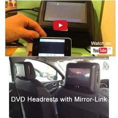 Premium Range of DVD Headrests. They host a load of functions to include Mirror-Link technology, and with the aid of an Apple adaptor you can watch and stream live feeds directly from your device to our headrests. They are primarily universal and can be fitted to over 95% of cars.