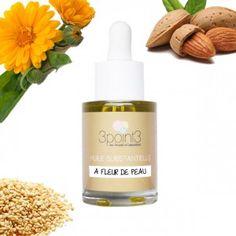 Synergie d'huiles végétales Bio pour les peaux sensibles : sésame, calendula et…