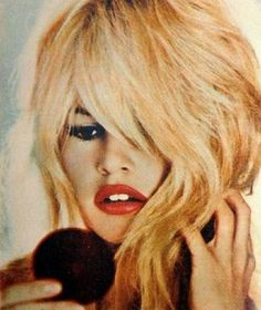 Brigitte Bardot was born on September in Paris, France. Brigitte& mother e ncouraged her daughter to take up music and da. Bridgitte Bardot, Vintage Makeup, Vintage Beauty, Bardot Brigitte, Bb Beauty, Hair Beauty, Divas, Viejo Hollywood, French Actress