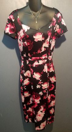 EVA MENDES INCREDIBLE Floral Pattern Soft Sheath Dress Sz 6 Classy!! #NewYorkandCompanyEvaMendes #Sheath #Casual