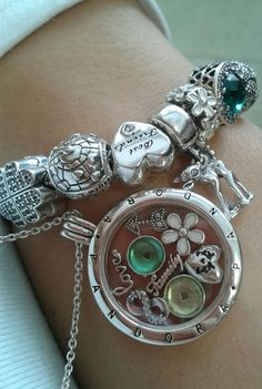 Pandora Jewelry OFF! Pandora Bracelet Charms, Pandora Jewelry, Pandora Locket Necklace, Charm Bracelets, Pandora Floating Locket, Floating Lockets, Bling Bling, Bracelet Designs, Stud Earrings