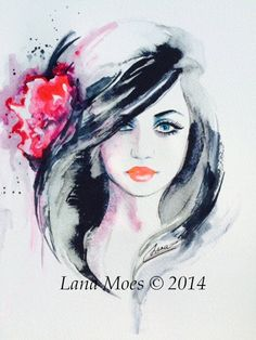 Romantic Fashion Print from Original Watercolor от LanasArt