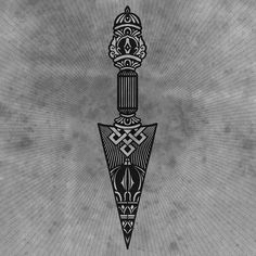 Tibetan Dagger 1 of many pieces I've been working on for my homies @smuglabs © 2014 Tom Gilmour www.tomgilmour.com