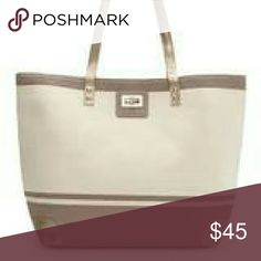 """Last chance! Thursday Friday Gold Toe Tote New with tag! Thursday Friday Gold Toe Tote in Color """"Antler"""" - 12.75"""" height, 18.5"""" width Thursday Friday Bags"""