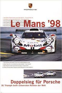 LE MANS '98 VINTAGE CAR POSTER racing sporty COLLECTORS 24X36 rare