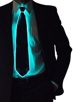 Light Up Neck Tie Bow Glow in the Dark Light Up by NeonNightlife