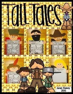 $You will find everything you need to teach tall tales in this unit, including five tall tale character craftivities! This unit focuses primarily on five tall tales written by Steven Kellogg; however, many of the activities can be used with any tall tale.