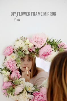 Make + Muse: DIY Fresh Flower Framed Mirror
