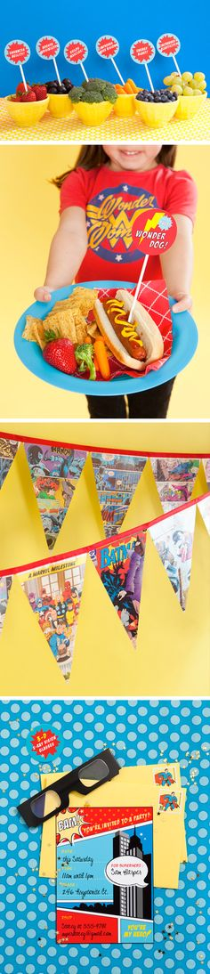 superhero-party ~ love the super hero banner ~ birthday party