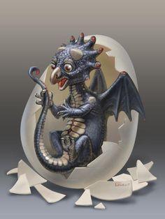 Dragon child Progres by Anton Batov, via Behance Beautiful Dragon, Beautiful Fantasy Art, Mythical Creatures Art, Fantasy Creatures, Mythical Dragons, Dragon Artwork, Fantasy Mermaids, Dragon Crafts, Dragon Pictures