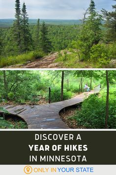 Discover 12 beautiful hiking trails in Minnesota, one for each month of the list. Enjoy forest trails, mountain trails, and waterfall trails, ranging from kid-friendly hikes to more challenging treks. Vacation Destinations, Vacation Ideas, Vacation Spots, Camping And Hiking, Hiking Trails, Grand Portage State Park, Mounds State Park, Waterfall Trail, Mountain Trails