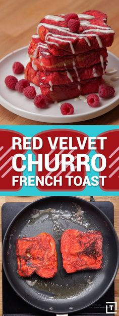 Just when you thought French toast couldn't get any better, Food Steez stepped up to the plate and brought us the ultimate breakfast-dessert combo: red velvet churro french toast with sweet cream cheese icing. And the best part? No cake mix required.