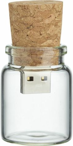 message in a bottle flash drive  | CB2, $20.96