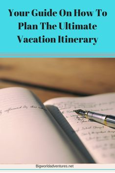 Check out our top 7 tips for planning an itinerary for your next vacation at bigworldadventures.net.  Travel, vacation, planning, planner, trip, holiday, itinerary, plan, organized, organizing Travel Guides, Travel Tips, Places Around The World, Travel With Kids, Organizing, Vacation, Adventure, Group, How To Plan