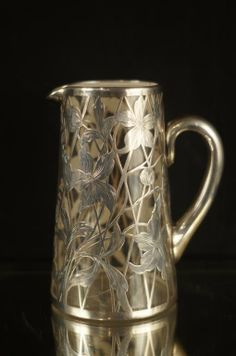 Sterling Silver overlay pitchers (2 signed) : Lot 100
