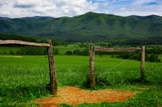 Cades Cove fence with view of the valley