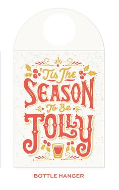 Jolly Season Bottle Hanger By 55his