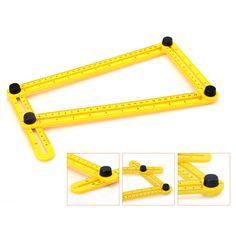 New Measuring Instrument template tool four-sided ruler mechanism slides For Builder Handymen Craftsmen Angle-ruler folda P15