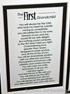 Grandchildren poems | First Grandchild Poem
