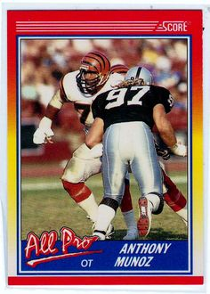 be17182f3 Football Trading Cards - 1990 Score Anthony Munoz