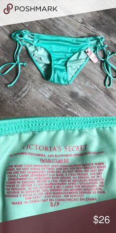 c942a12ec766a VS bikini bottoms small NWT VS bikini bottoms size small in mint color  Victoria s Secret Swim
