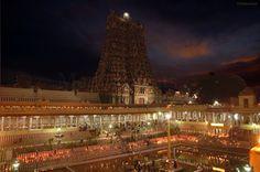madurai meenakshi amman temple at night - Google Search