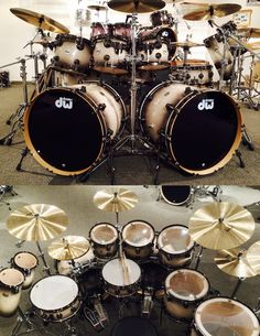 Natural to Quick Candy Burst over Birdseye DW Drums