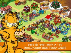 Garfield: Survival Of The Fattest App by PIXOWL INC. #freeapps #garfield #cat #fatcat #itunes #apps #ipad #iphone #itouch #games #pixowlinc