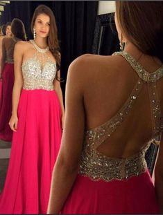 Pink Backless Prom Dresses,Open Back Prom Gowns, Pink Prom Dresses, Party Dresses,Long Prom Gown,Open Backs Prom Dress,Sparkle Evening Gown,Sparkly Party Gowns