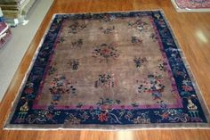 A classic Nichols Chinese rug with glossy field and great border colors. From the 1920s #deco #chinese #persian #carpet