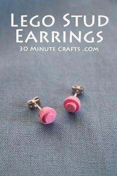 Lego Stud Earrings
